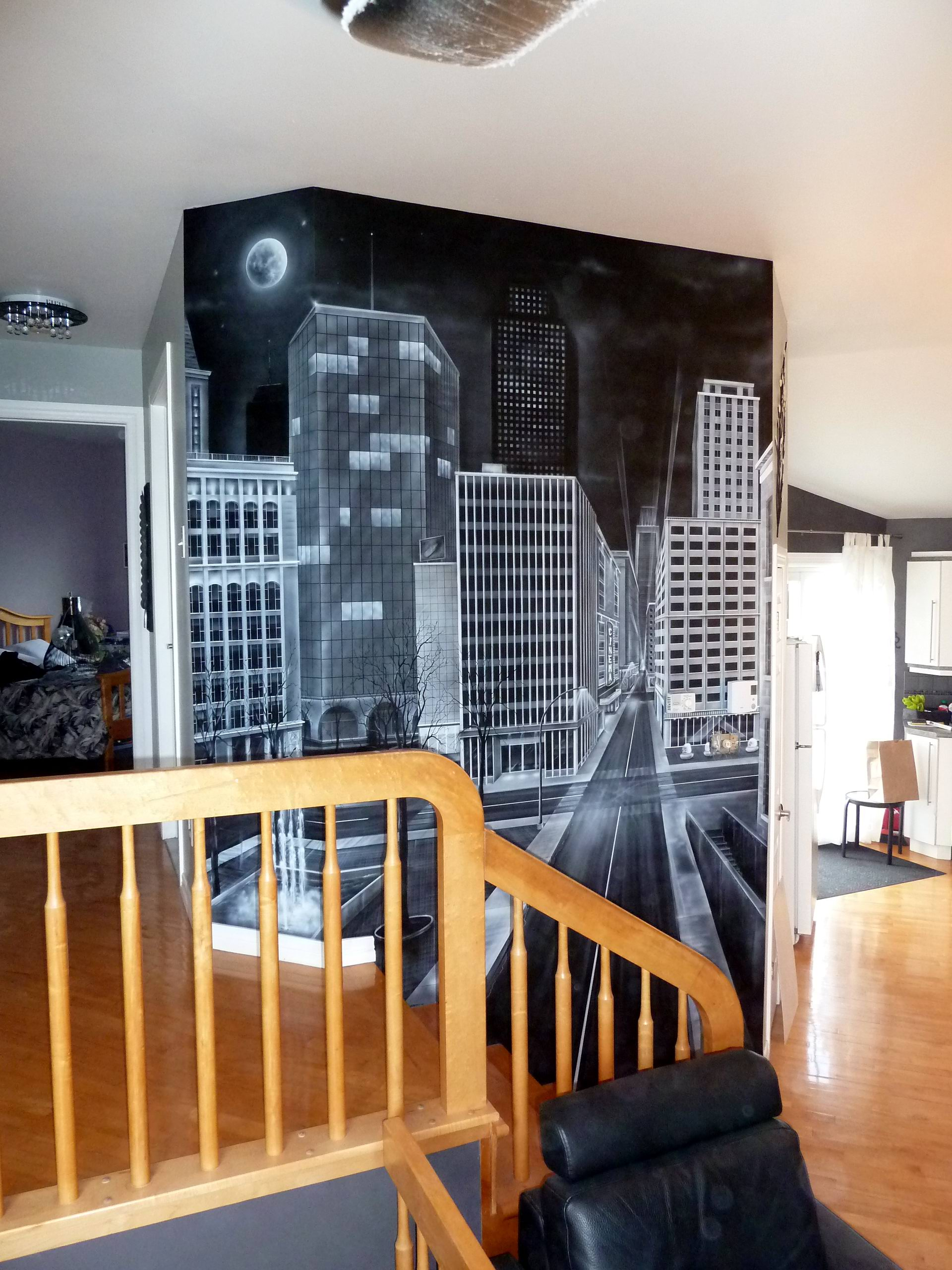 trompe oeil mural interieur latest trompe luoeil mural. Black Bedroom Furniture Sets. Home Design Ideas